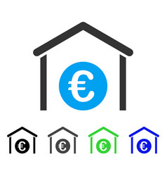 Euro storage garage flat icon vector