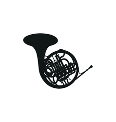 French horn vector image vector image