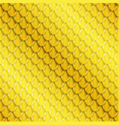 Gold fish scales seamless pattern vector