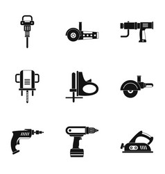 House electric tool icon set simple style vector