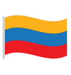 Isolated colombian flag vector