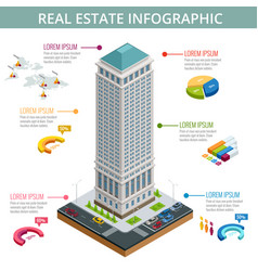 isometric of real estate vector image
