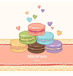 Macarons paris lace vector
