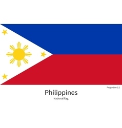 National flag of Philippines with correct vector image vector image