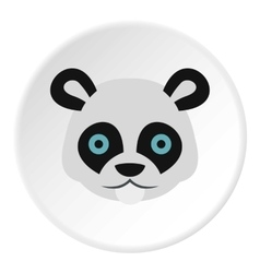 Panda icon flat style vector image vector image