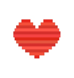 pixel art heart symbol of love vector image vector image