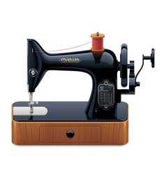 retro sewing machine vector image vector image