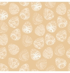 Seamless of Easter eggs with graphic pattern vector image vector image