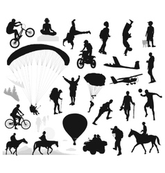 Summer activities and extreme sports set vector image