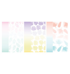Summer tropical background for cards with vector