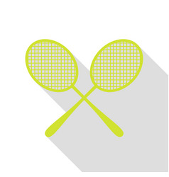 Tennis racquets sign pear icon with flat style vector