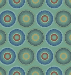 The pattern of colored circles vector image vector image