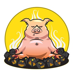The pig vector image vector image