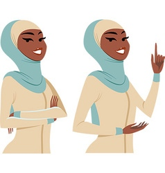 woman making gestures vector image