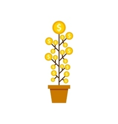 Growth funds economy concept vector