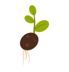 Sprout potatoes icon flat style vector