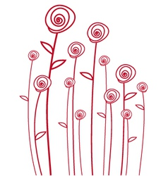 Abstarct red roses vector