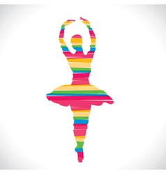 color dancing girl design with strip vector image