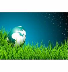 Easter illustration with shiny globe-egg vector image