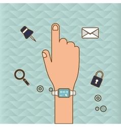 Watch icon design vector
