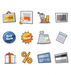 Retail icon set vector