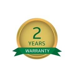 Two years warranty label vector