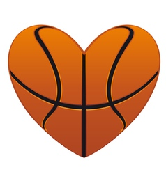 Realistic basketball heart vector