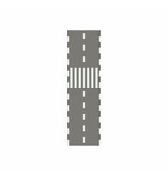 Road with crosswalk icon cartoon style vector