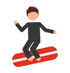 Surfing isolated icon design vector