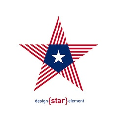 Abstract star with liberia flag colors and symbols vector