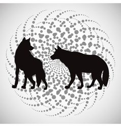 Animal design wolf icon silhouette vector
