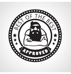 approved stamp or sticker vector image