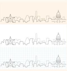 Austin hand drawn skyline vector