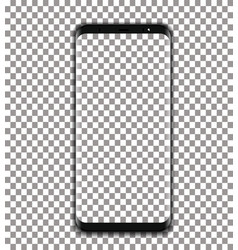 Black phone with transparent screen on vector
