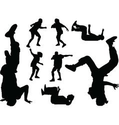 breakdance - vector image vector image