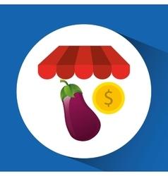 Buying online eggplant vegetable icon vector