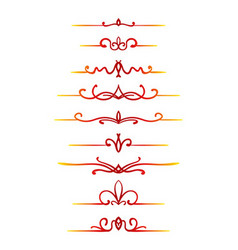 Calligraphic line vector