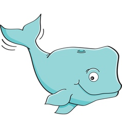 Cartoon whale vector image vector image