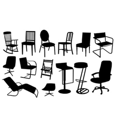 chair silhouettes vector image