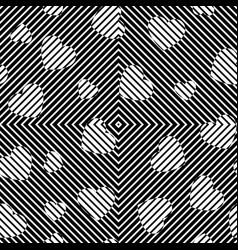 Chaotic art hearts vector