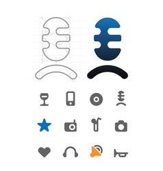 Designers icons for leisure vector image