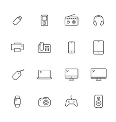 Devices Icons vector image