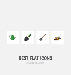flat icon dacha set of trowel shovel bailer and vector image