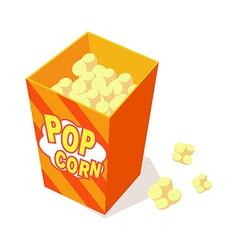 icon popcorn vector image vector image