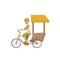 Indian bicycle rickshaw vector
