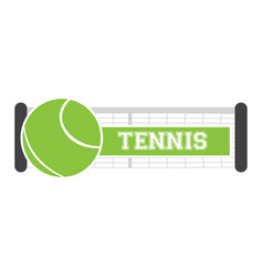 Isolated tennis net vector