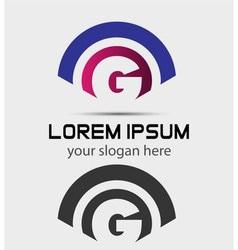 Letter G Logo Design Creative Symbol of letter G vector image