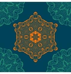 Mandala-like open-work seamless texture hand vector