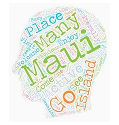 Maui fun for everyone text background wordcloud vector