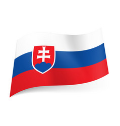 National flag of slovakia white blue and red vector